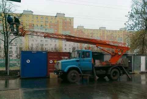 Аренда автовышки 18 метров телескопической